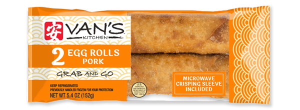 Van's Kitchen Grab & Go 2-Pack Pork Egg Rolls