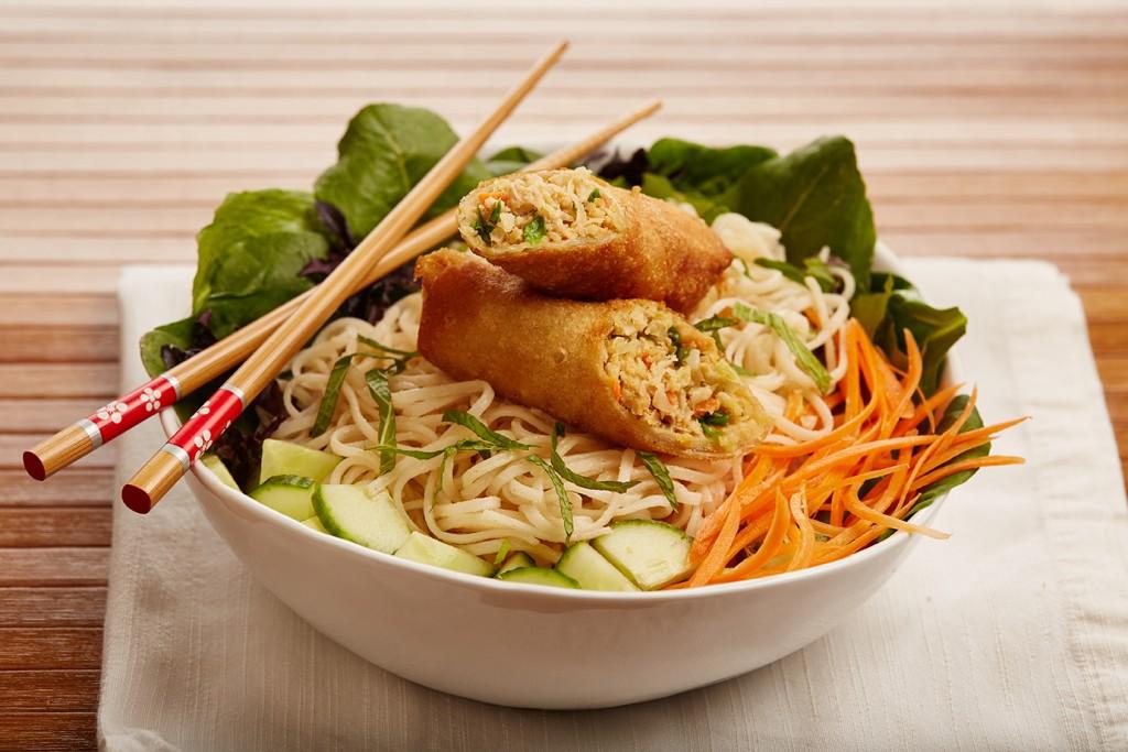 Rice Noodles with Creamy Peanut Sauce