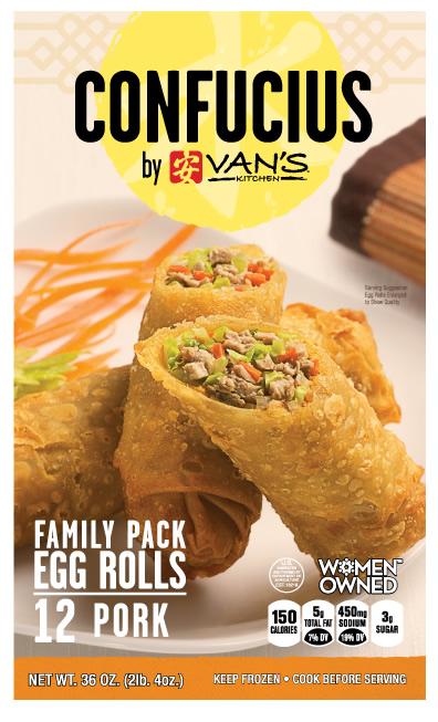 Confucius Pork Egg Roll Family Pack