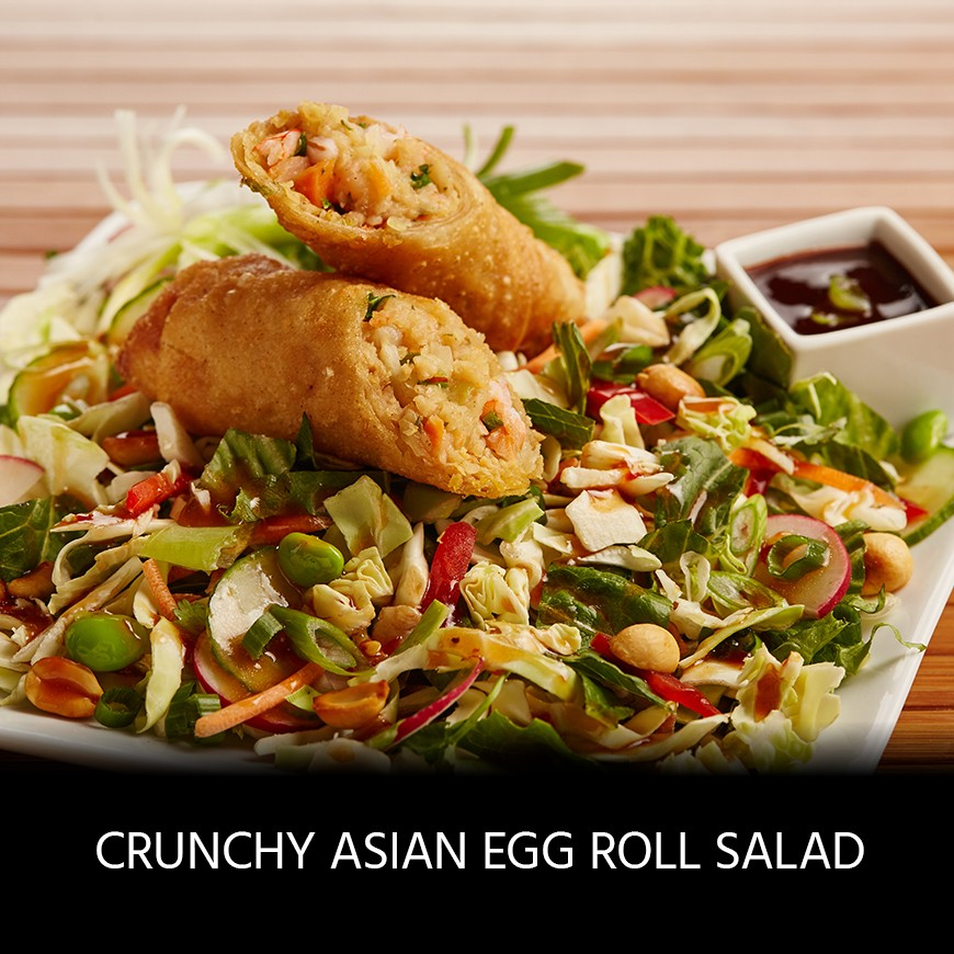 Crunchy Asian Egg Roll Salad