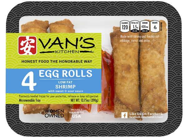 4 - Count Shrimp Egg Rolls with Dipping Sauce