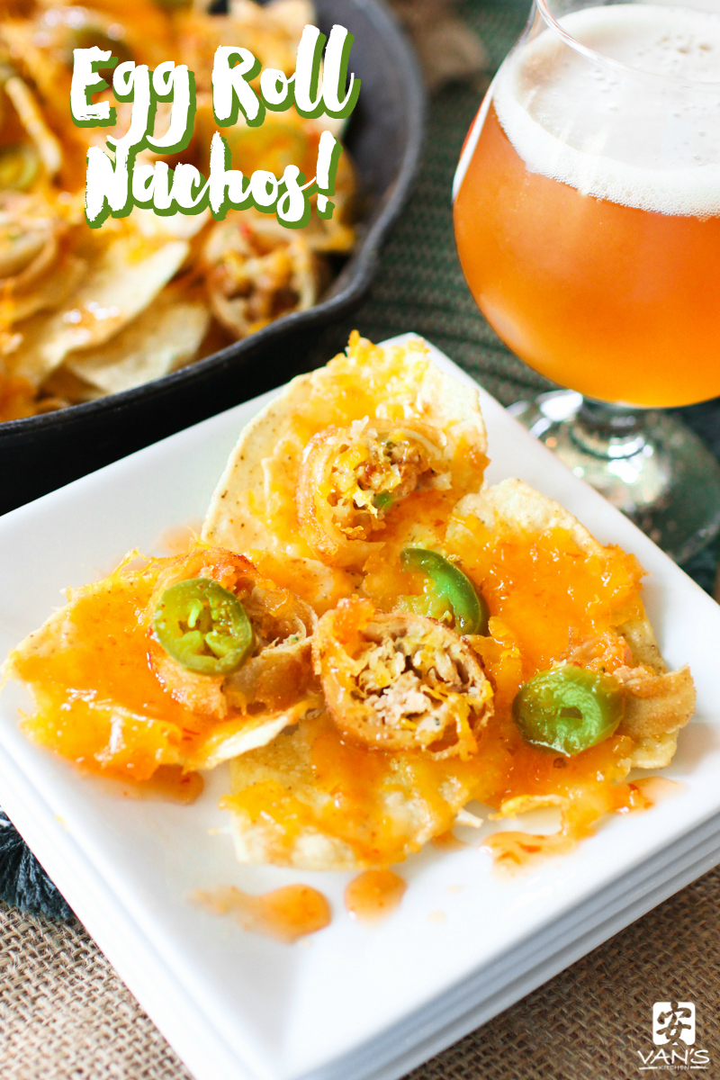 Our Asian-inspired egg roll nachos are bursting with your favorite flavors! China and Mexico may be worlds apart but their food blends amazingly well together!