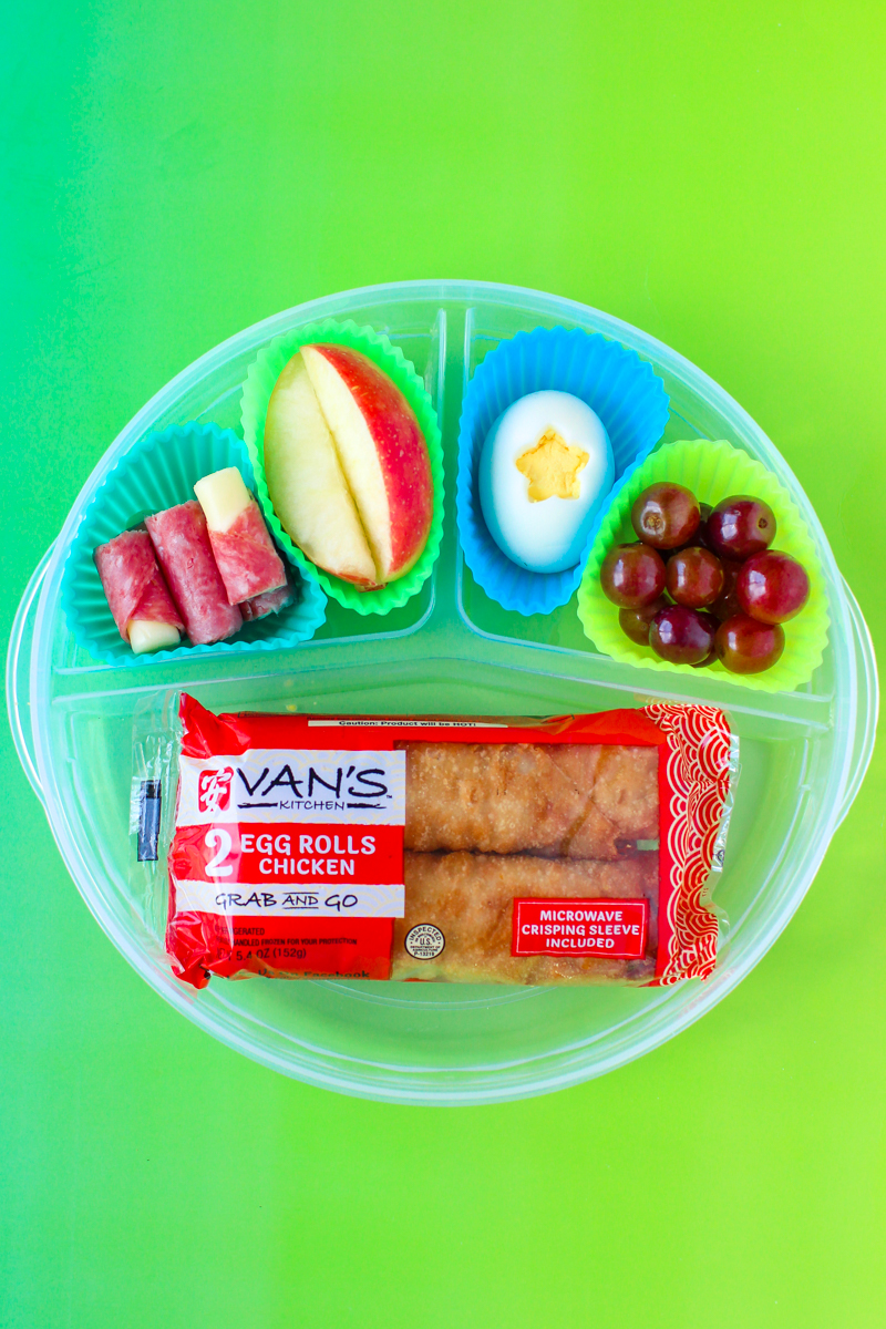 Tired of sandwiches for lunch? Think outside the (lunch) box and consider these exciting non-sandwich lunch ideas with Van's Kitchen Grab & Go egg rolls.