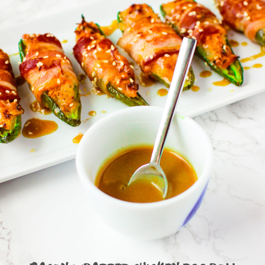 Bacon Wrapped Chicken Egg Roll Jalapeno Poppers