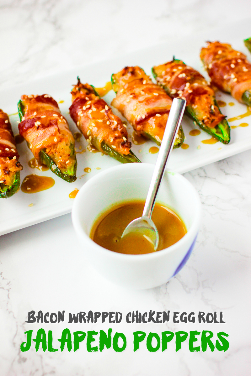Bacon Wrapped Chicken Egg Roll Jalapeno Poppers - Van's ...