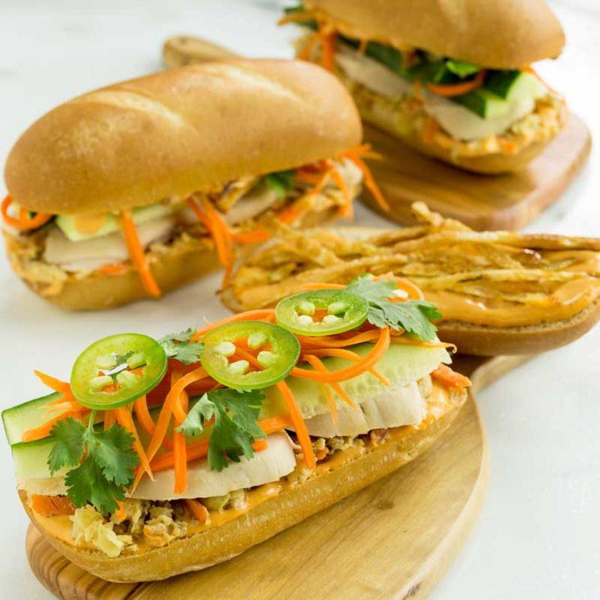 Rotisserie Chicken Banh Mi Sandwich
