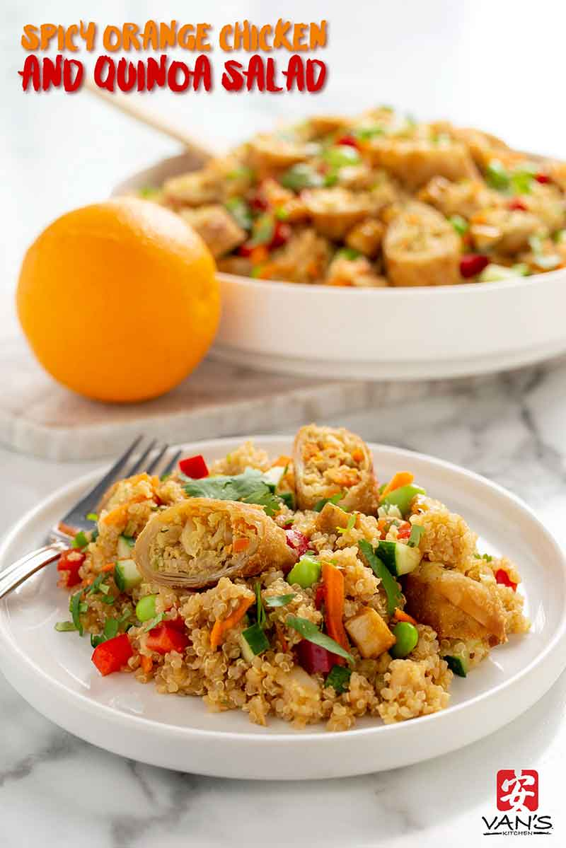 spicy orange chicken quinoa salad