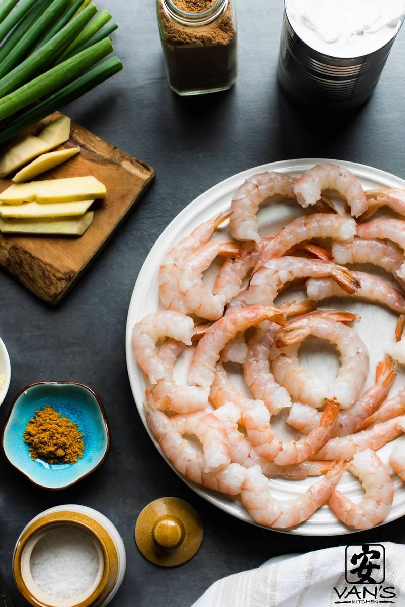 Coconut Curry Shrimp Ingredients