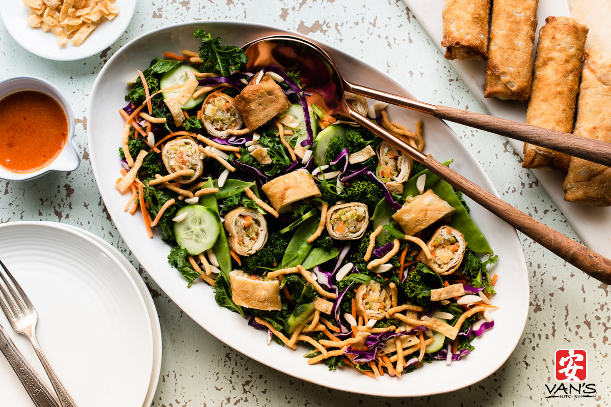 Spring Cleaning Salad Egg Roll Horizontal