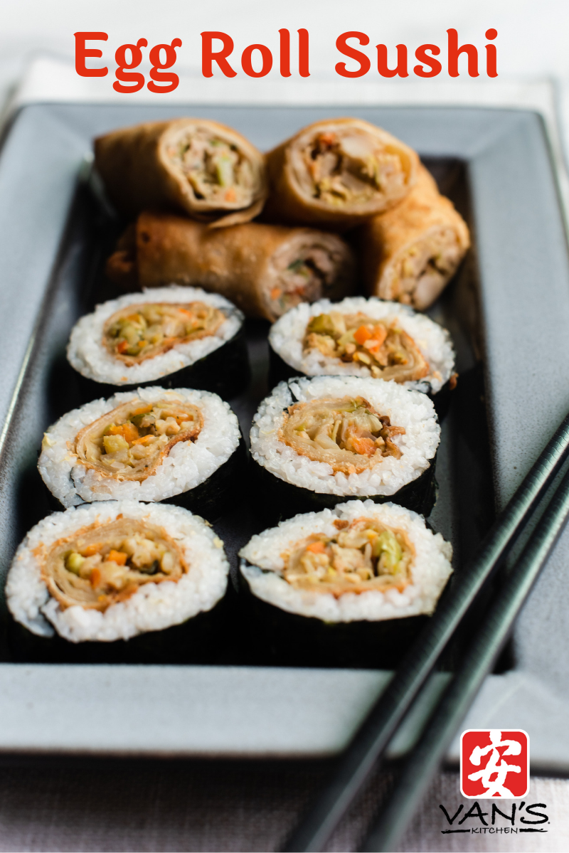 Egg Roll Sushi Title
